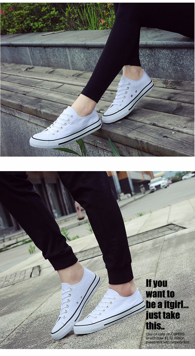 Hellozebra Men Casual Canvas Shoes Classical Lace Up Solid Flats Breathable Board Soft Leather Students Shoes 2016 Autumn New  (16)