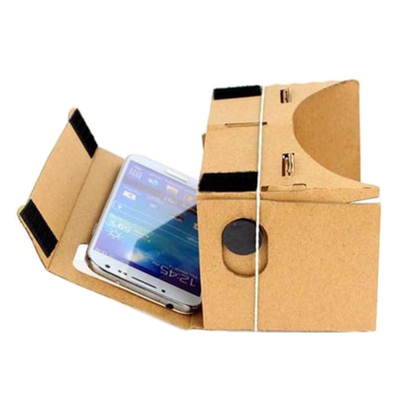 Malloom 2017 <font><b>DIY</b></font> <font><b>Cardboard</b></font> <font><b>VR</b></font> <font><b>Glasses</b></font> Virtual Reality 3D <font><b>Glasses</b></font> for 4-6 Inch Screen Mobile phone High quality Brown
