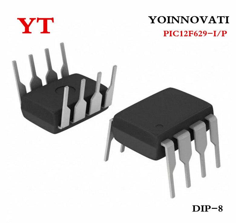 2PCS MCU IC MICROCHIP DIP-8 PIC12F629-I//P 12F629-I//P 12F629