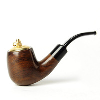1 Pcs Dual Purpose Portable Smoking Pipe Tobacco Herb Wooden Pipe With Holder Cigarette Accessories ac0019