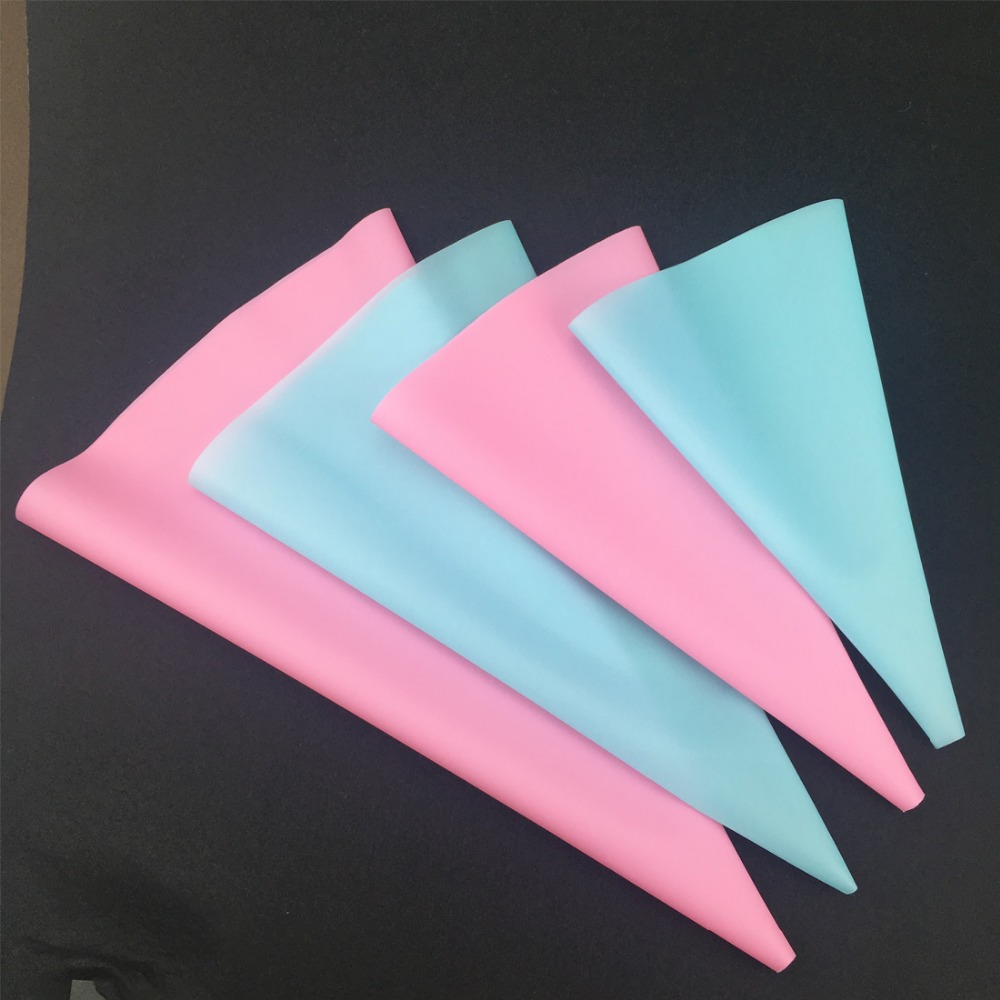 4pcs lot Baking Decorating Reusable Confectionery Silicone Icing Piping Cream Pastry Bag Squeeze Nozzle Cake Decorting OK 0954 in Baking Pastry Tools from Home Garden
