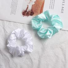 Xugar Hair Accessories Elastic Solid Color Ring for Women Girls Ponytail Scrunchies Tie Rope Holder