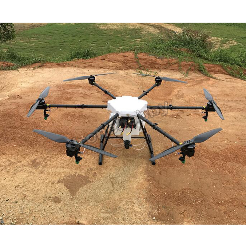 JMRRC 1650mm Wheelbase Agricultural Spraying Drone 15kg 15L water tank 30mm arm 2.5mm Carbon Fiber Folding UAV Hexacopter 30mm tube arm folding connector for agricultural plant protection uav multicopter
