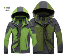 Autumn and winter outdoor men and women couple models sportswear spring mountaineering jacket plus thick velvet jacket  DSR003