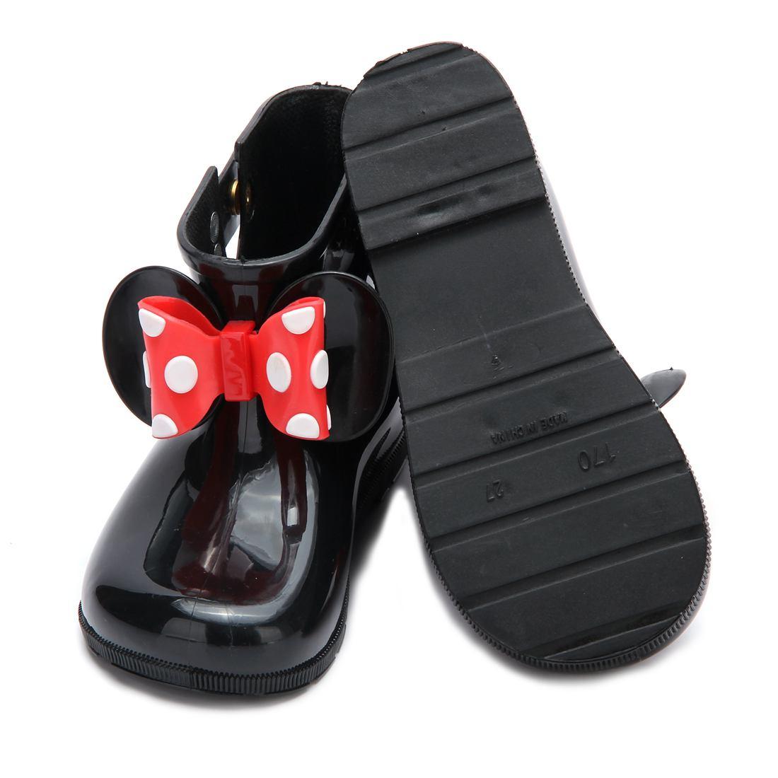 Mini Melissa Kids Regenlaarzen Mickey Minnie PVC Bow 2 Layer Meisjes - Kinderschoenen - Foto 5
