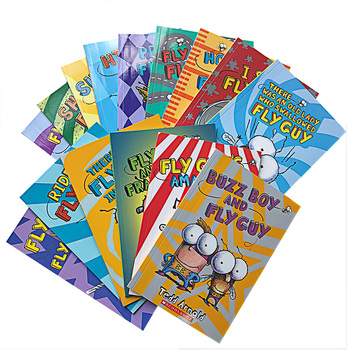 15 Books/set Fly Guy Set English Phonics Picture Books I Can Read Children Story Book Early Educaction Pocket Reading Book