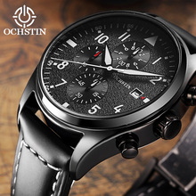 2019 Mens Business Watches Top Brand stainless steel Chronograph