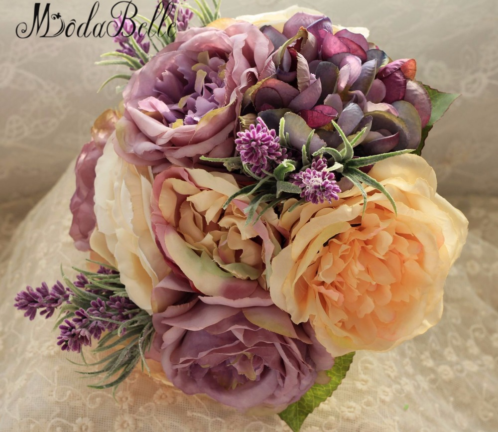 Gorgeous 2016 hand made yellow lavender purple bridal bouquet bride gorgeous 2016 hand made yellow lavender purple bridal bouquet bride flower wedding bouquets de mariage artificiels in wedding bouquets from weddings mightylinksfo