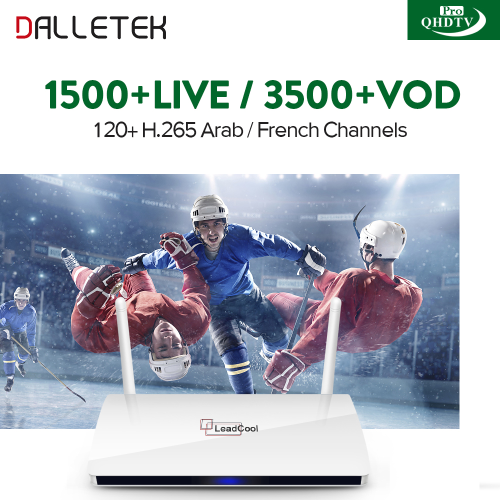 IPTV Arabic French Italy UK Belgium France Spain Channels QHDTV PRO Code Leadcool Smart Android 6.0 TV Box French Arabic IPTV