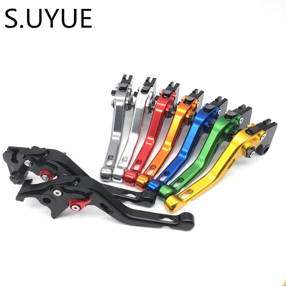 S.UYUE For Yamaha FZ6 FAZER/S2 2004 - 2010 Clutch Brake Levers CNC 8 colors Adjsustable 2005 2006 2007 2008 2009 motocross dirt bike enduro off road wheel rim spoke shrouds skins covers for yamaha yzf r6 2005 2006 2007 2008 2009 2010 2011 20