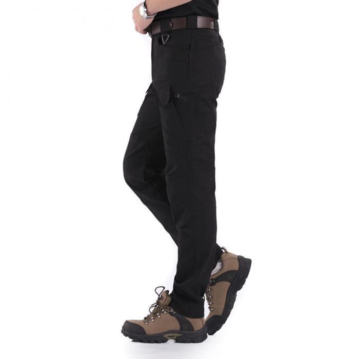 Calças masculinas cor sólida tático impermeável multi-bolsos calças compridas 19ing