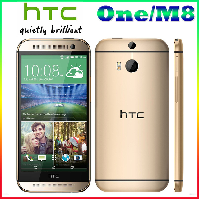 "Free  Shipping HTC M8 100% Original HTC One M8 Phone With 5.0""screen Quad-core Dual 4MP+5MP Camera WIFI GPS 4G LTE Cellphone"
