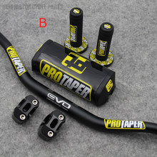 "1 1/8"" Fat Bar 28MM Handlebars+Grips+Bar Clamps+Bar Pad Motorcycle MX Motocross Pit Dirt Bike for KTM EXC CRF YZF250 KLX RMZ(China)"