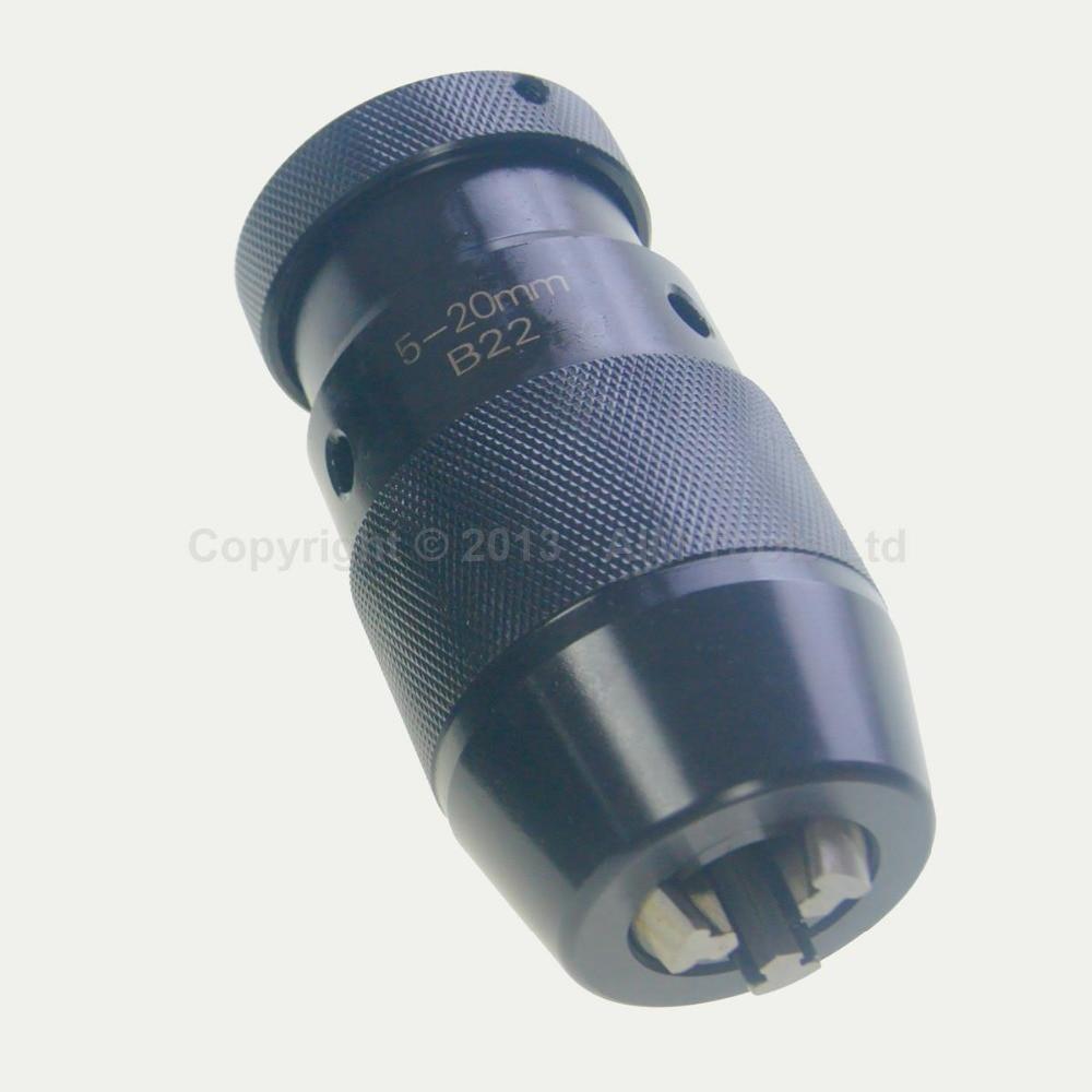 Precisión de servicio pesado Banco sin llave Dril Drillpress Torno Chuck B22 5-20MM