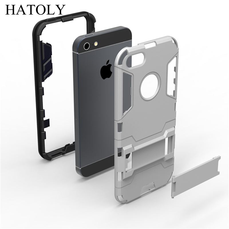 sFor Cover Apple iPhone 5s Case Rubber Robot Armor Phone Shell Slim Hard Back Phone Case for iPhone 5s Cover for iPhone 5s SE <