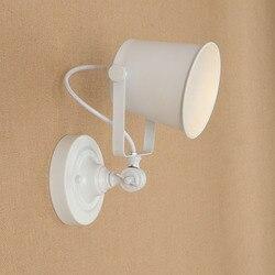 LED loft przemysłowe regulowany kinkiety kinkiety E27 oświetlenie wielokolorowe światła ścienne nowoczesne do salonu sypialni bar w Wewnętrzne kinkiety LED od Lampy i oświetlenie na
