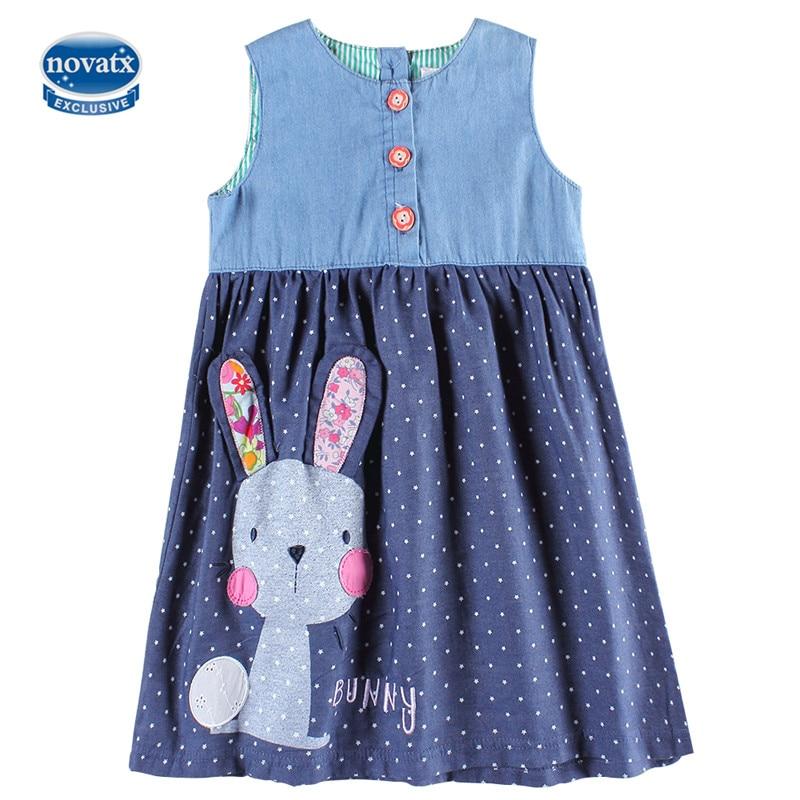 Novatx h6295 baby girl party girl dress princesa dress kids para las niñas ropa