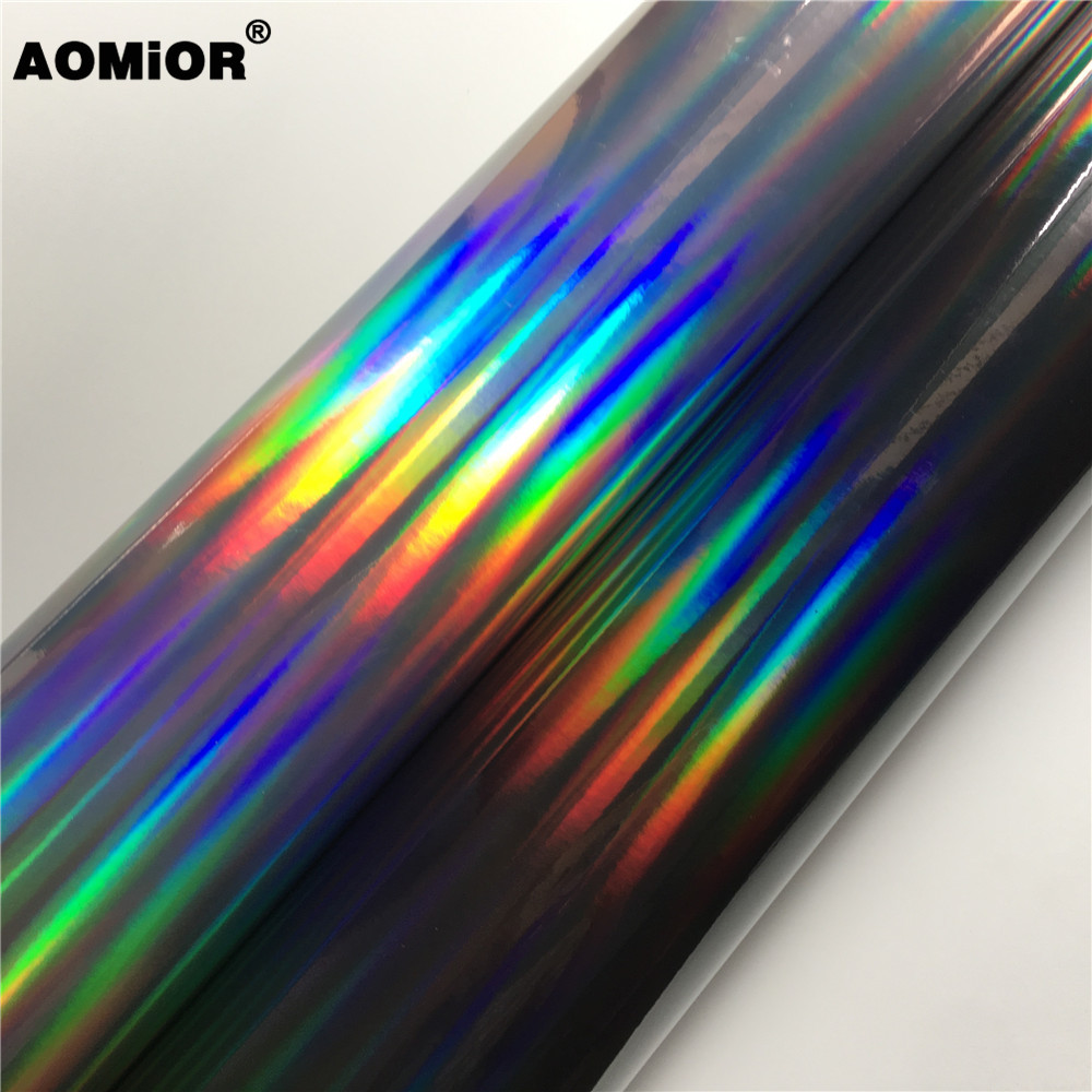 Laser Chrome Holographic Vinyl Wrap Film Foil For Car Wrapping Sticker Chameleon Vehicle Car Decal