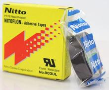 30pcs 3 גודל T0.08mm * W(13mm,19mm,25mm)* L10m יפן NITTO Denko NITOFLON עמיד למים יחיד צדדי קלטת 903UL חשמלי דבק