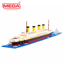 1860 Pcs Blocos de Construção Blocos de Construção do Modelo Do Navio Titanic Escola Suprimentos Brinquedos Educativos Presente Childern Diamante Tijolos