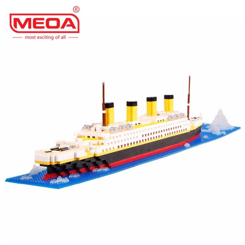 1860 Pcs Building Blocks Titanic Ship Model Building Blocks School Educational Supplies Toys Childern Gift Diamond Bricks