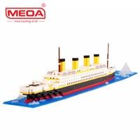1860 Pcs Building Blocks Titanic Ship Model Building Blocks Compatible With Legos School Educational Supplies Toys