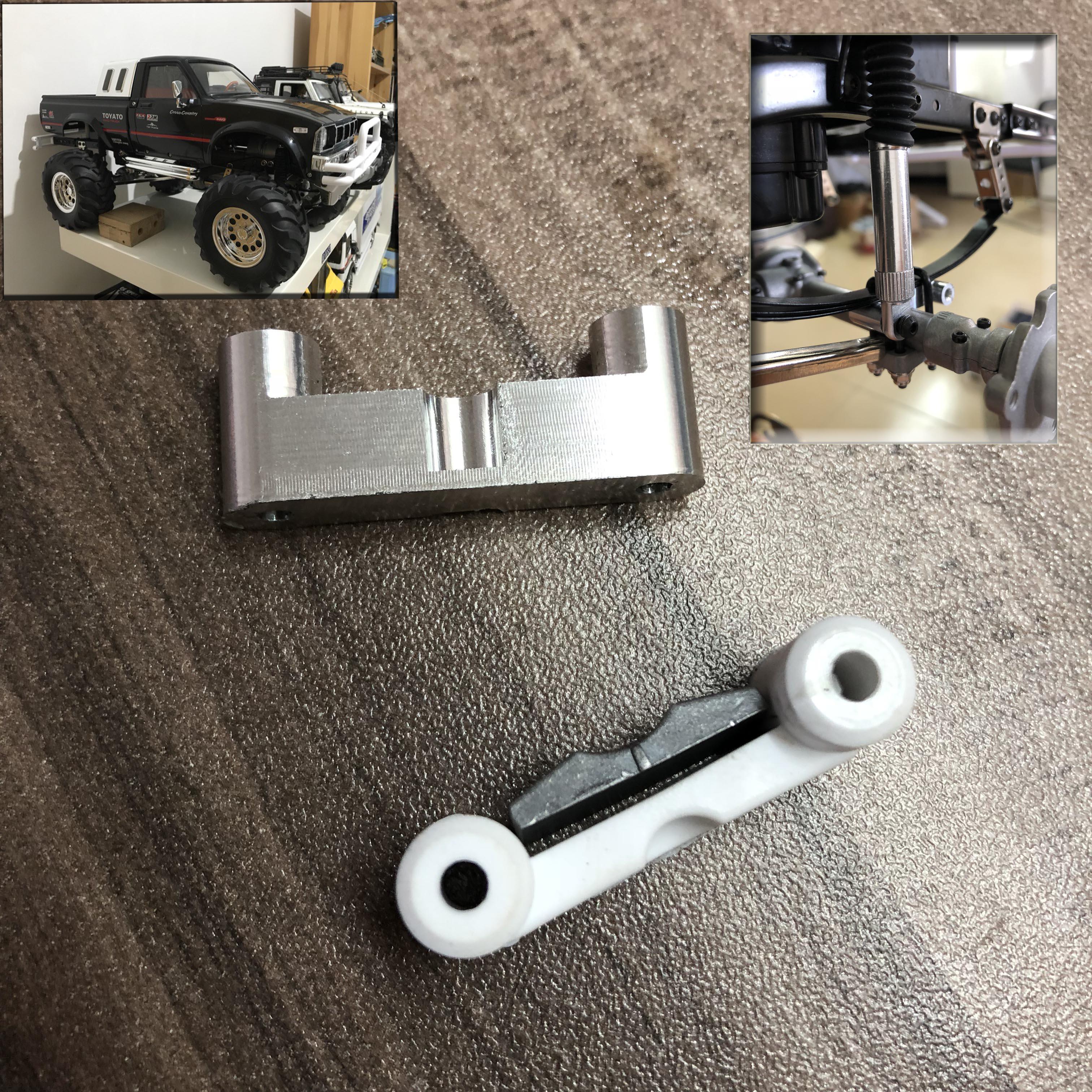 Tamiya Model Car HG-P407 1/10Remote Control Model Car Upgraded Component Original Metal Shock Absorber Fixed Seat