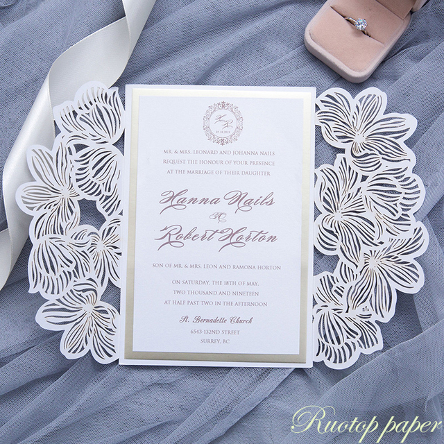 FreeShipping Wedding Invitation Card Feather For Graduation Birthday Party Personalize Cards In Invitations From Home