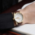 Homens Relógios Marca de Topo Relógios Data Dia Relógio de Ouro de Luxo de Couro Genuíno Casual Relógio de Quartzo dos homens Sports Relógio de Pulso Relogio Masculino