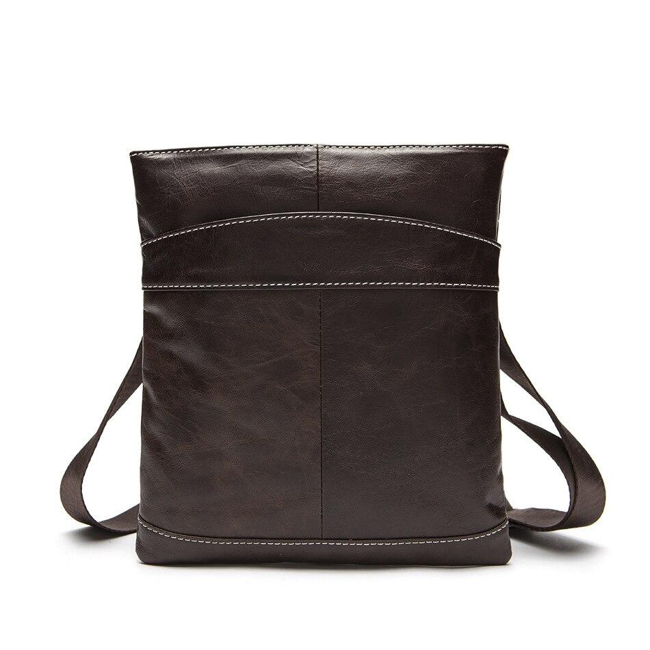 100% Garantie Echtem Leder Männer Messenger Taschen Entspannen Ultra Licht Echt Kuh Leder Schulter Umhängetasche Vintage Männer Tasche Hell In Farbe