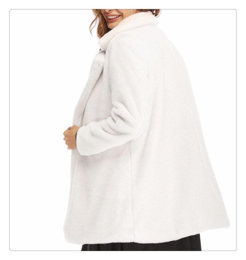 Imitation fur coat 2018 European and American women's wear long and loose plush soft rabbit hair (5)
