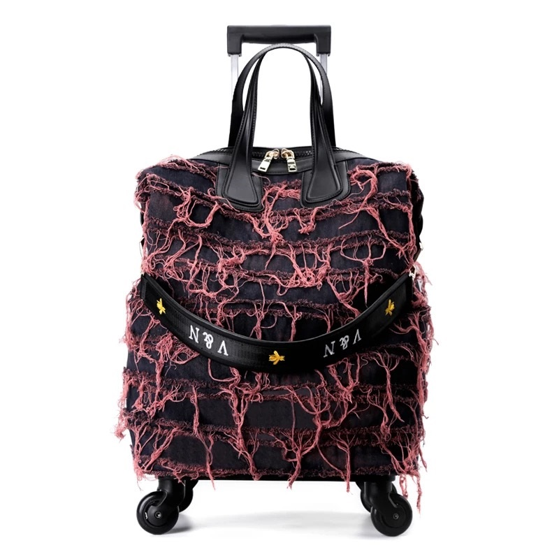 Methodical New Denim Trolley Suitcase Travel Bag Personality Trolley Case Female 18 Inch Korean Boarding Package Fashion Luggage Luggage & Travel Bags