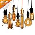 Antique Retro Vintage Edison Lâmpadas E27 40 W 220 V Lâmpadas Incandescentes Lâmpadas Decoração Luz de Tungstênio Filamento da Lâmpada