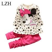 Lzh children clothing sets 2017 spring autumn baby girls clothes set long sleeved dot t shirt.jpg 200x200
