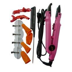 Утюжок для наращивания волос, термоусадочный коннектор, плоскогубцы, черный, ЕС, предварительно скрепленный кератин, терморазъем, палочка, ...