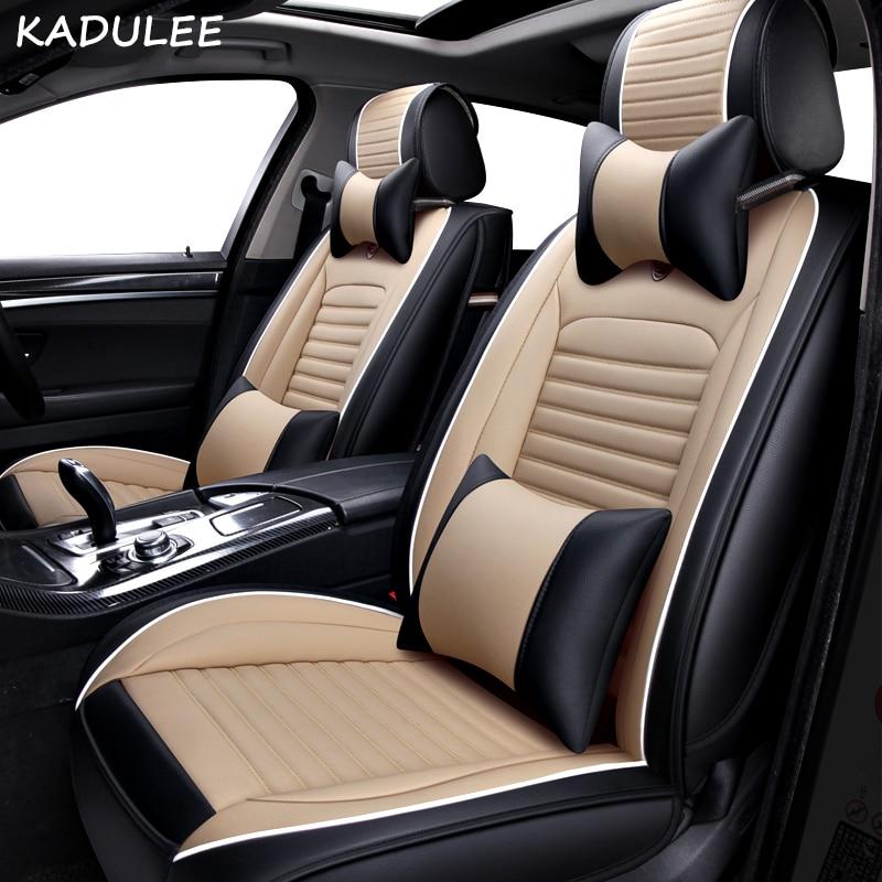 KADULEE PU Leather Car Seat Cover For Audi A6L R8 Q3 Q5 Q7