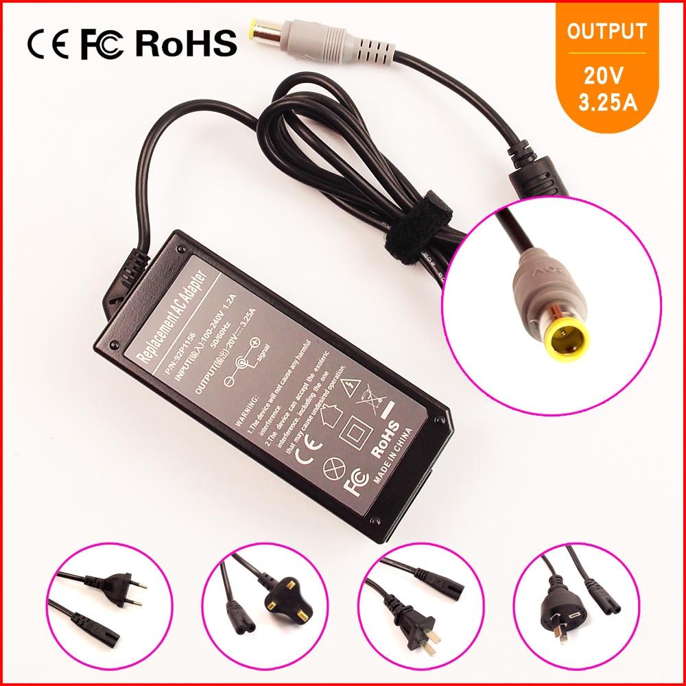 20 V 3.25A 65 W Замена адаптера переменного тока питания для ноутбука Зарядное устройство для IBM/lenovo/Thinkpad 40Y7696 40Y7697 40Y7698 40Y7699 40Y7700 40Y7701 40Y7702
