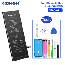 NOHON Phone Real 3360mAh Battery For Lithium Polymer Mobile Batteries iPhone 8 Plus 8Plus iPhone8 8+ Free Tools