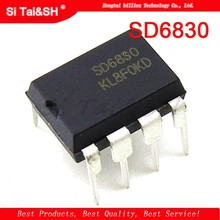 1pcs/lot SD6830 DIP8 Built-in high voltage efficiency switching Current mode PWM+PFM controller(China)
