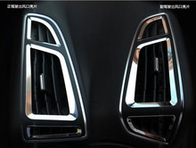 6 pcs Aço Inoxidável Acessórios em Bom Estado Saída Decoração Anel Interior Quadro Para Ford Focus 3 4 MK3 MK4 2012-2015, Carro Stylin