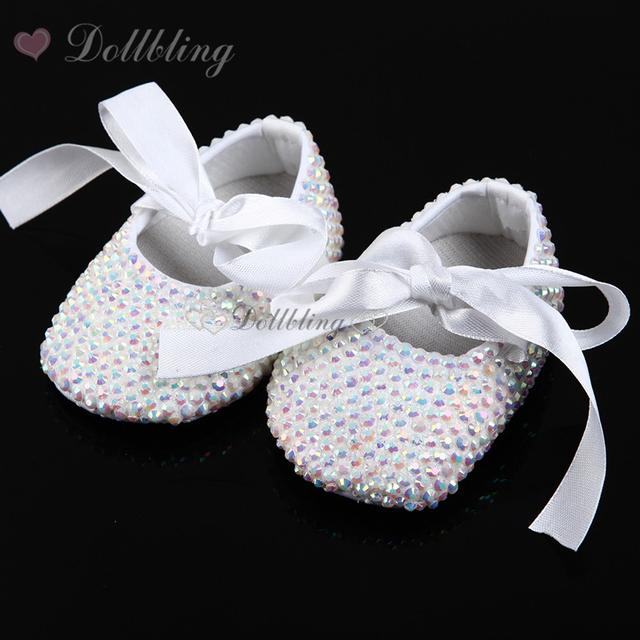 Todo Cubierto de Pedrería Bling Zapatos de La Bailarina de La Chispa Bebé Cirb/Impresionante Cochecito de niño, regalo del Recuerdo de Bautizo infantil andadores