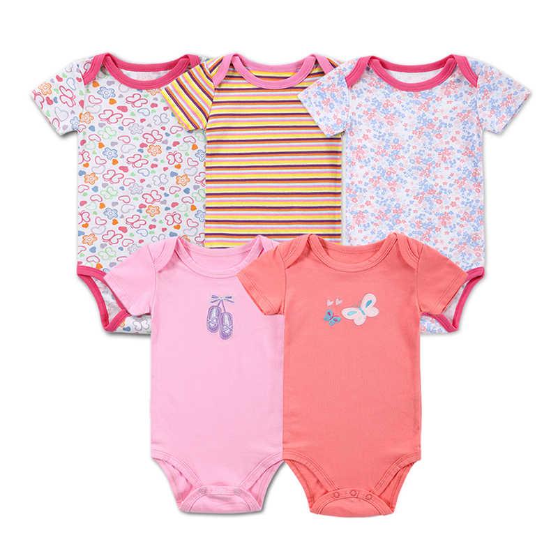 3 5 cái bé bodysuit 100% cotton cơ thể trẻ sơ sinh bé tay áo ngắn clothing jumpsuit in baby boy girl bodysuits bé clothing