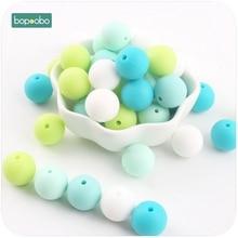 hot deal buy bopoobo 40pc baby teether colorful series silicone bead food grade teething diy nursing bracelet bead baby teether 12mm