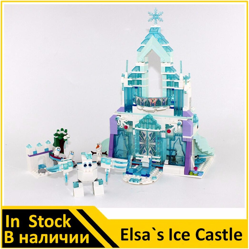 Building Blocks Model 25002 Compatible with Pricess The Elsa`s Magical Ice Castle 41148 Model Toys For Children lepin 25002 731pcs the snow world series the elsa s magical ice castle set building blocks bricks toys girl with gifts 41148