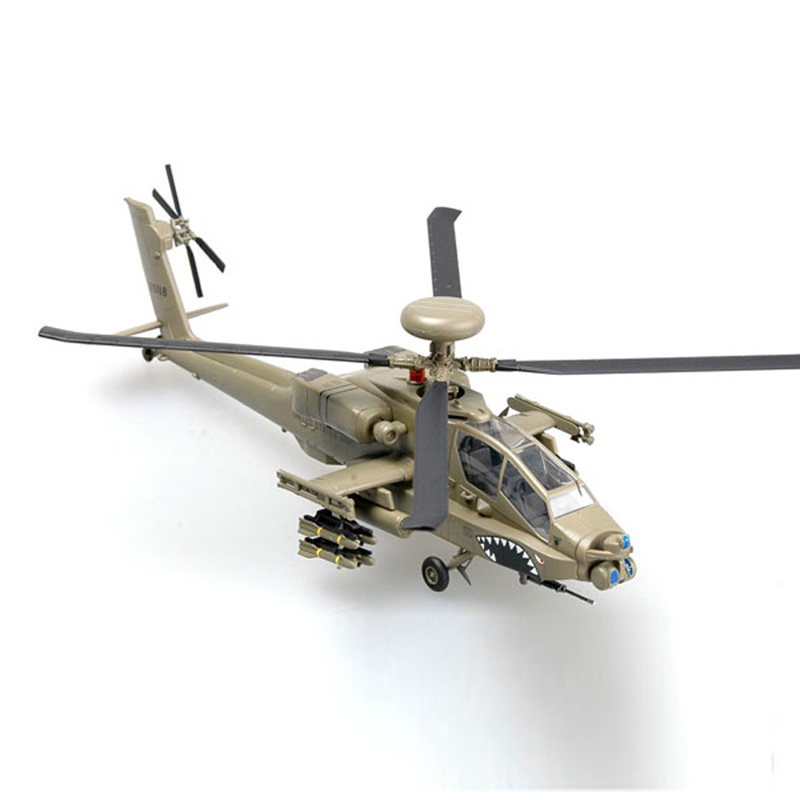 Easy Model USA AH-64D Longbow Helicopter 1/72 Scale Finished Model Toy For Collect Gift 37031 fov print 84208 us apache longbow helicopter gunships 1 48 alloy model fm
