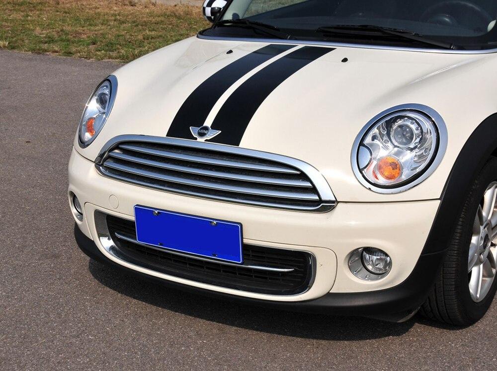 Авто полосы капот наклейки для автомобиля Стайлинг для MINI Cooper S One JCW R55 R56 R60 R61 F54 F55 F56 F60 земляк аксессуары
