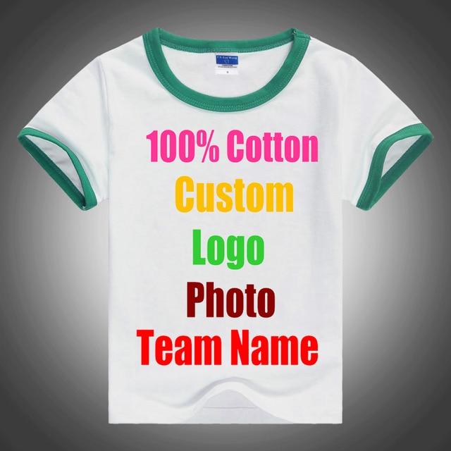 bfb05c43 Patchwork Love Cute Kids Unisex Summer T shirt Short Sleeve Cotton Custom  Logo Team Photo Text Printed Child Boy Girl T-shirts