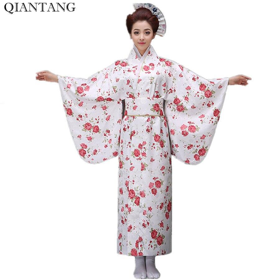 Las mujeres japonesas kimono yukata haori con Obi vestido de noche  rendimiento traje clásico Asia ropa un tamaño HW046 6a5c12adec5b
