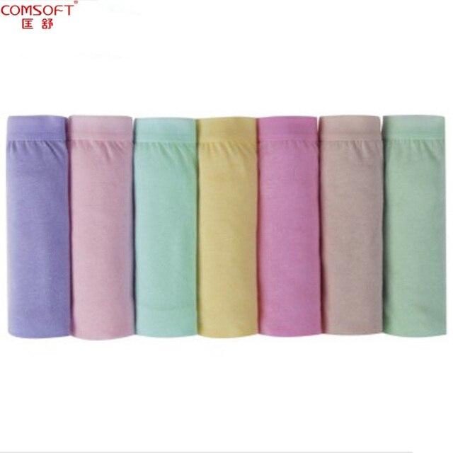 Женское нижнее белье из 100% хлопка, средняя посадка, 7 штук в упаковке, трусики-шорты на неделю, размеры S - XXXL