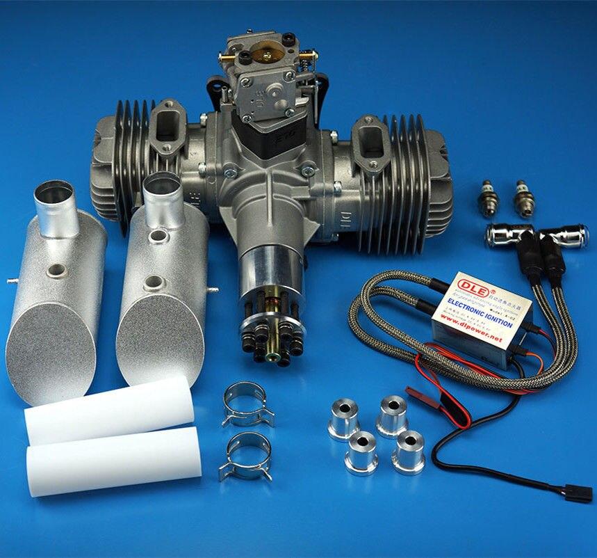 Новый DLE бензиновый двигатель DLE120 сзади выхлопных газов 120CC для самолета